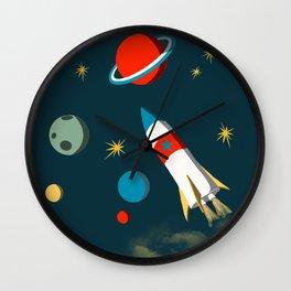 Space Adventure Wall Clock
