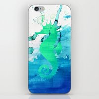 seahorse iPhone & iPod Skins featuring Seahorse by Sara Eshak