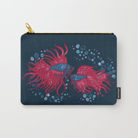 Fighting fish Carry-All Pouch