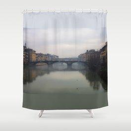 Bridge Gap Over Arno Shower Curtain