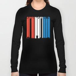 Red White And Blue Springfield Missouri Skyline Long Sleeve T-shirt