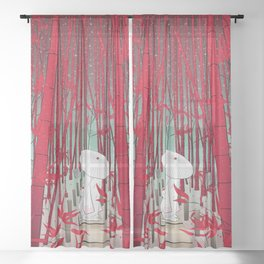 Yuki- onna Sheer Curtain