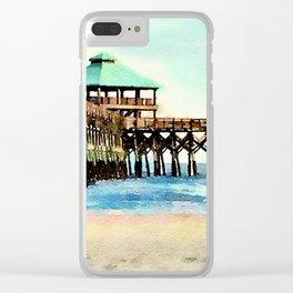 Folly Beach Pier - Folly Beach, SC - Charleston South Carolina Clear iPhone Case