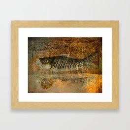 鯉 幟 (The Koinobori) Framed Art Print