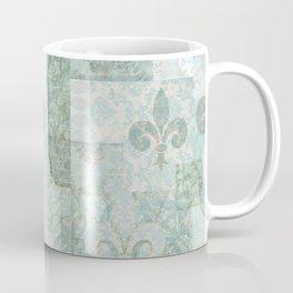 teal baroque vintage patchtwork Coffee Mug