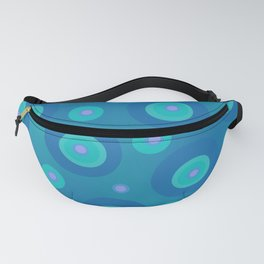Polka Dot Abstract in Teal Fanny Pack