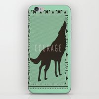 courage iPhone & iPod Skins featuring Courage by Laura Santeler