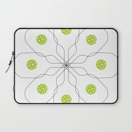 Pickleball Paddle Ball Pattern Laptop Sleeve