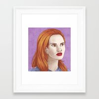 lydia martin Framed Art Prints featuring Lydia Martin by billa