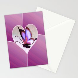Butterfly Love - Lavender Stationery Cards