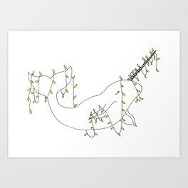 Narval aux lumières. Art Print