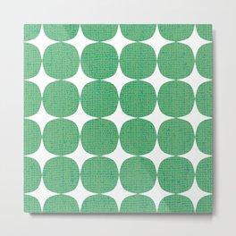 White Starburst on Green Metal Print