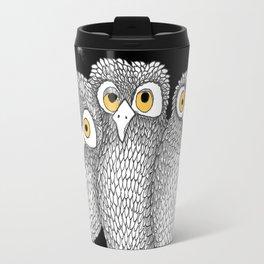 Zentangle Owl Friends at Night Travel Mug