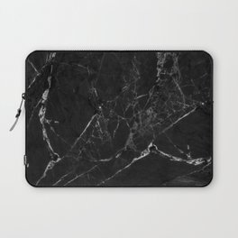 Black Marble Print II Laptop Sleeve