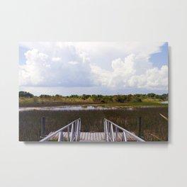 Everglade Dock Metal Print