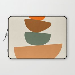 Abstract Geometric Balancing Stones Modern Art Print Laptop Sleeve