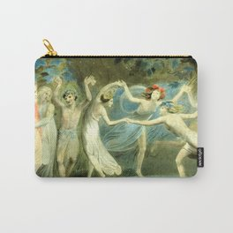 """William Blake """"Oberon, Titania and Puck with Fairies Dancing"""" Carry-All Pouch"""