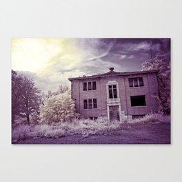Old Edmonton High School | Infrared in Purple Canvas Print
