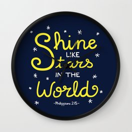 Shine Like Stars Wall Clock