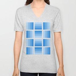 Four Shades of Light Blue Unisex V-Neck