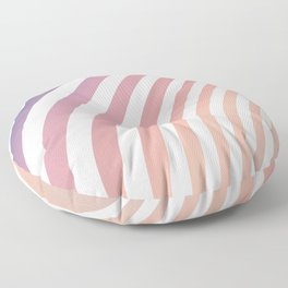 Soft pastel abstract lines Floor Pillow
