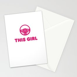 Watch Out This Girl Is Driving Stationery Cards