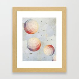 I found you falling from the sky Framed Art Print