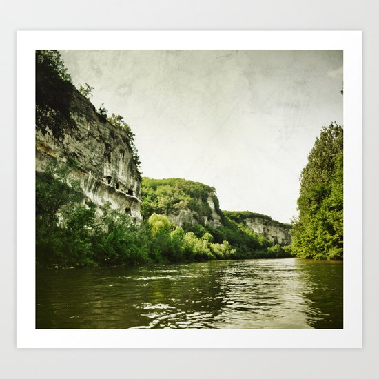 Along the River Art Print