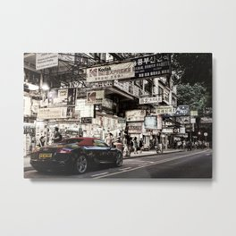 Audi R8 on the Streets of HKG Metal Print