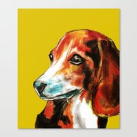 beagle Canvas Prints featuring Beagle by James Peart