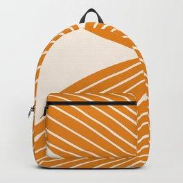 Minimal Fall Leaf Gold Backpack