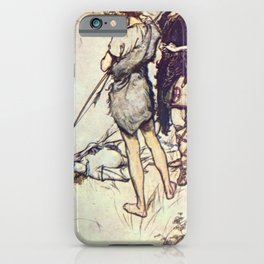 Arthur Rackham - Lamb's Tales from Shakespeare (1909) - Imogen and her brothers (Cymbeline) iPhone Case