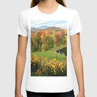 vermont T-shirts featuring Vermont Foliage Watercolor by Vermont Greetings