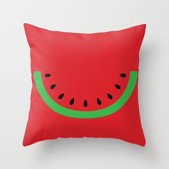 Minimal Melon Throw Pillow
