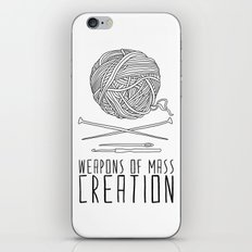 Weapons Of Mass Creation - Knitting iPhone Skin