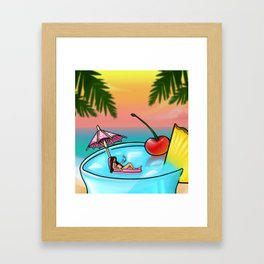 blue hawaii Framed Art Print