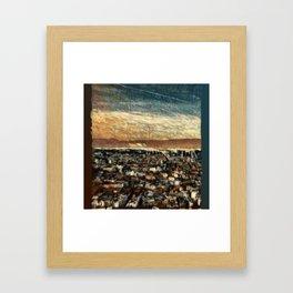 Napoli Skyline Framed Art Print