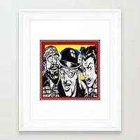 cartoon Framed Art Prints featuring cartoon by Kathead Tarot/David Rivera