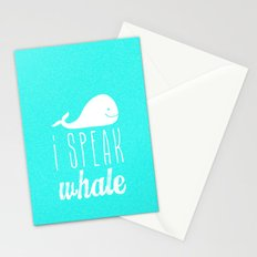 I Speak Whale Stationery Cards