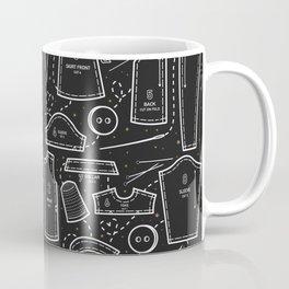 Sewing the Stars! Black Coffee Mug