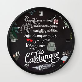 Microaventuras / Calblanque Wall Clock