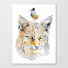 Cat&Bird Canvas Print