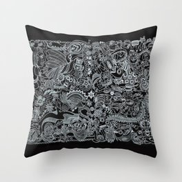 Ancient Figures II Throw Pillow