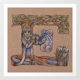 Krishna E Art Print