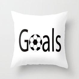 Goals,Goals Shirt,Soccer Shirt,Soccer Lover,Soccer Player,Soccer Gift,Cool Shirt,Womens,Gift for Her Throw Pillow