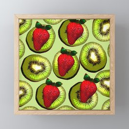 KIWI AND STRAWBERRY COCKTAIL Framed Mini Art Print