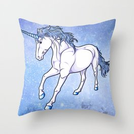 The Unicorn Colored Throw Pillow