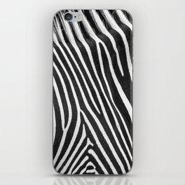 Animal Photography | Zebra | Minimalism | Wildlife Art | Black and White iPhone Skin