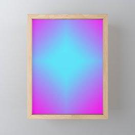 Diamond Blue Gradient Framed Mini Art Print