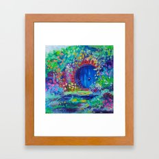 The Hobbit Hole House Door impressionist oil painting Framed Art Print